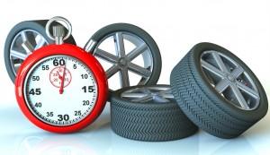 Reifenwechsel beim Reifenhändler
